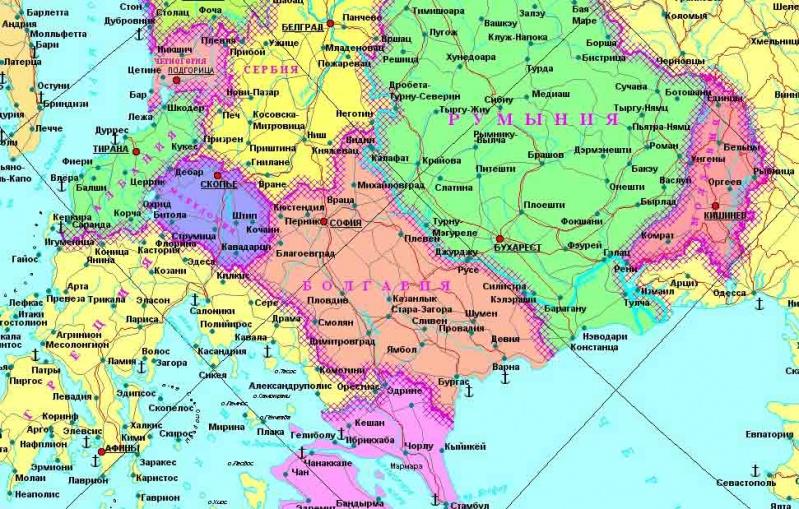 Карта Евразии Скачать - фото 3