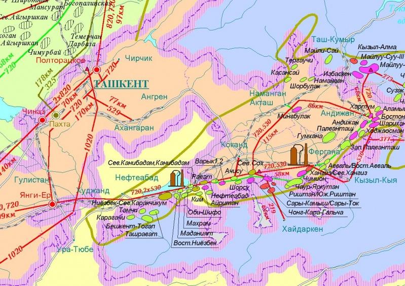 """""""Карта Нефть и газ Средней"""