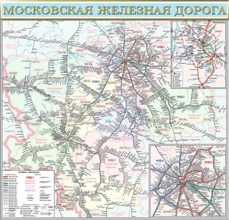 """""""Карта Московская железная"""