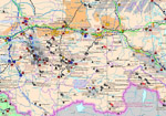 """The map Raw material base and mining industry in Russia and the CIS"" (Scale 1 : 3,5 mln.)"